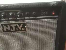 Bajo 5 cuerda memphif + pie + amplificador ntv 40w