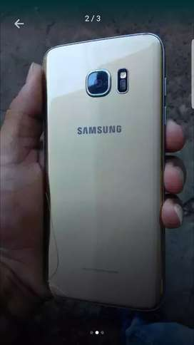 Samsung s7 edge detalle en pantalla anda perfecto con su caja y cargador libre