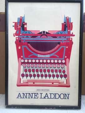 """Cartel de Anne Laddon """"Escritor rojo"""""""