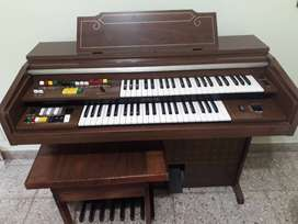 Vendo Órgano Yamaha doble teclado y pedalera