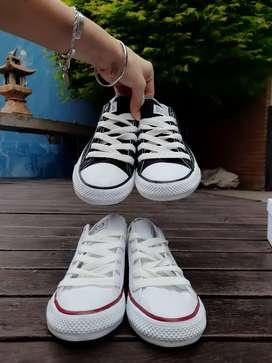 Zapatillas de lona tipo all star varios talles