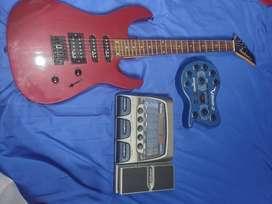 Combo guitarra, Jackson, VAmp y pedalera Digitech RP300 (Vintage)