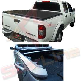 Carpa Plana Lona Chevrolet Dmax Con Marca Enrollable Riel Aluminio Camioneta Ref MC105 ¡Envío Gratis!