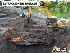 Alquiler de maquinaria pesada; Derrocamientos, Desbanques, Limpieza de terrenos, Excavaciones, Desalojos de escombros.