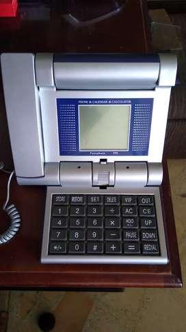 TELÉFONO PANAPHONE  998 CON CALENDARIO Y CALCULADORA  DE SEGUNDA EN PERFECTO ESTADO