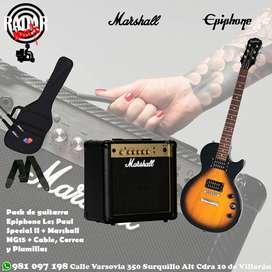Pack de guitarra Epiphone / Marshall