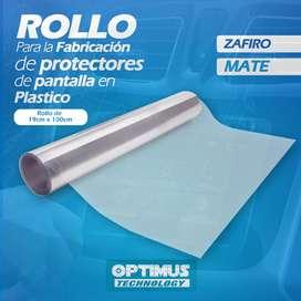 Rollo Material para la fabricación de Film Screen protectores de pantalla 19x100cm Zafiro / Mate Anti Huella