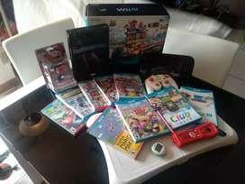 Wii U con 9 juegos, Amiibo Mario nuevo, Wii Fit U