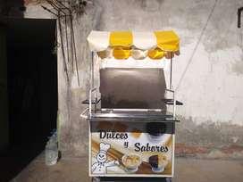 Remato carrito ambulante para venta de alimentos