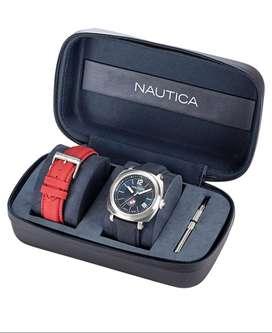 Reloj Náutica Nappgp901 Set Doble Pulso Original Japonés