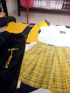 Vendo uniformes del colegio santa librada el de diario y el de física
