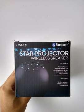 Parlante Bluetooth proyector de estrellas