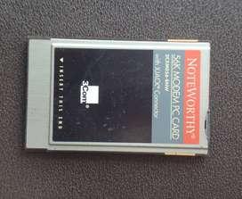 3Com NoteWorthy 56K Modem PC Card
