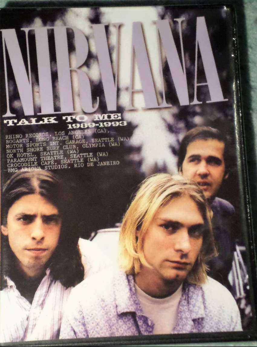 Nirvana. Talk to me. Dvd original. Sellado. Sin uso