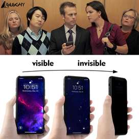 Vidrio Templado Antiespia iPhone 6/7/8/X/XR/XS/11/11PRO Plus 9d Curvo Negro