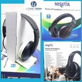 Auricular Wireless NISUTA. Radio FM y lector de memoria