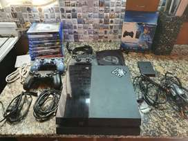 PS4 500gb+3joystick+1nacon pro controller+PS Vita TV + 8juegos fisicos