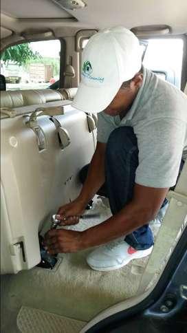 lavado en seco y desmanchado de cojineria de carro