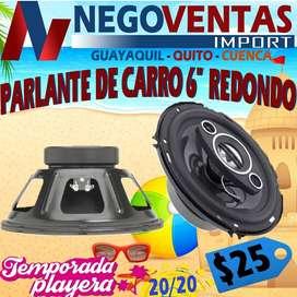 """PARLANTE DE CARRO 6"""" REDONDO"""