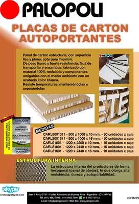Carton Estructural Blanco 1.22x2.20m Espesor 10mm Palopoli