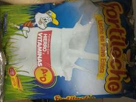 3 bolsas de leche Fortileche de 900 gr