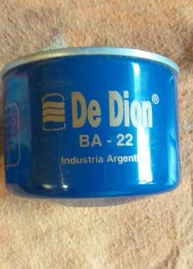Filtro de Aceite De Dion BA-22, Citroen 3cv, IES, Mehari, Ami 8, América. 500 $