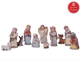 Pesebre Infantil Navideño x11 Medida: 10 cm Marca: Santini