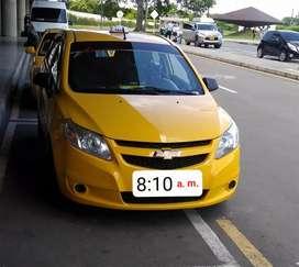 Se vende taxi Chevrolet Sail modelo 2019 único dueño papeles al día