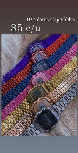 Relojes Casio Colors
