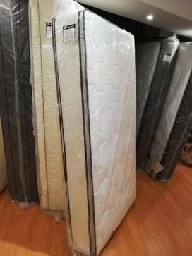 Colchon resortes 090x190  1 1/2  plaza con pillow top reforzado