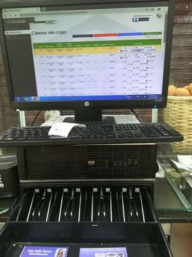 Vendo registradora sistematizada completa caja de dinero computarisada