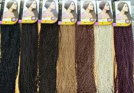 Kanekalon extensiones natural y seminaturales pelucas cola