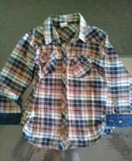 Camisa Escocesa Niña