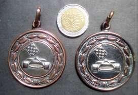 2 Medallas de Escuela del Sol. Vintage.