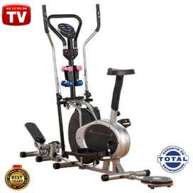 MÁQUINA Ejercicio TV 10 EN 1 Multifunción, Elíptica, Bicicleta Estática, Escaladora, Twister, Mancuernas o Pesas, Monit