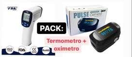 Oximetro y termómetro en Pack