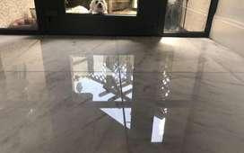 Cristalizada y pulida de pisos brillos cristal.