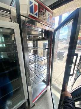 Nevera vertical panoramica de refrigeracion