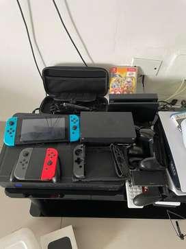 Nintendo switch mas accesorios como nuevo