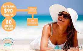 Invierta en su terreno a 4 minutos de la playa con tan solo $90 de entrada / SD5