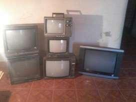 Lote de Televisores 14 pulg , 20 ,21, pulgad , 29 pulg , NO FUNCIONAN