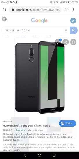 Vendo celular Hawei Mate lite 10