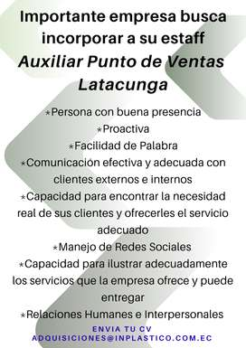 Auxiliar punto de ventas - Latacunga