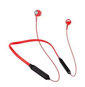 Auriculares intrauditivos Bluetooth con banda para el cuello, deportivos, con micrófono