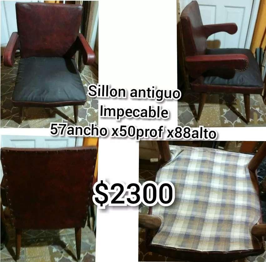 Vendo sillon antiguo impecable fuerte 0