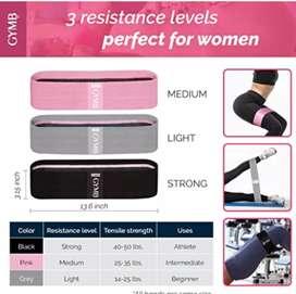 Bandas de resistencia fitness para piernas y glúteos marca GYMBee.