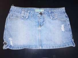 Pollera de Jeans y Blusitas Impecables Como Nuevas T 40/42 y 2/3