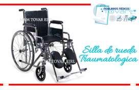 silla de ruedas traumatologica para yeso en las piernas