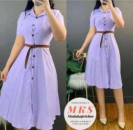 vestidos largos con botones en medio