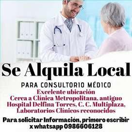 Se Arrienda local para Consultorio Médico, Av. Principal, cerca A Hospital, Clínica y Laboratorio